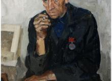 Портрет отца, шофера дороги жизни. 1972