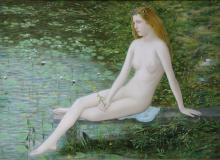 Купальщица, х., м., 50х71, 2000