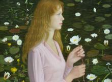 Портрет с лилиями, х., м., 80х70, 1998